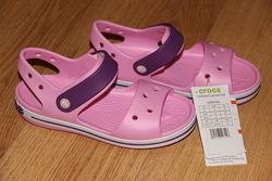 Детские сандалии босоножки Crocs Bayaband кроксы c10, с11, с12, с13, j1, j2