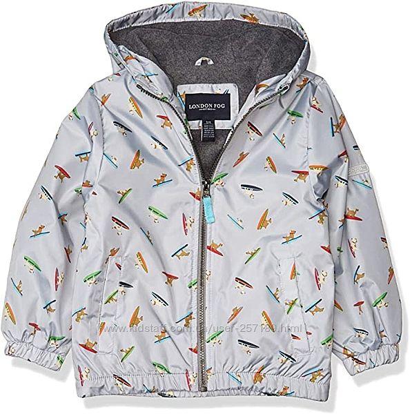 Детская ветровка куртка London Fog размер 4 года. Новая.  На флисе.