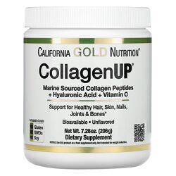 Морской гидролизованный коллаген California Gold Nutrition CollagenUP,206г