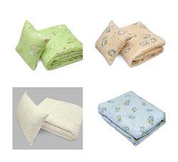Набор детский стеганное одеялко 105х140 и детская подушка 60х40 цвета