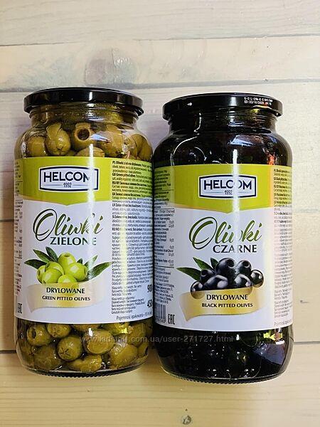 Оливки зеленые и черные без косточки Helcom 330гр. , Польша