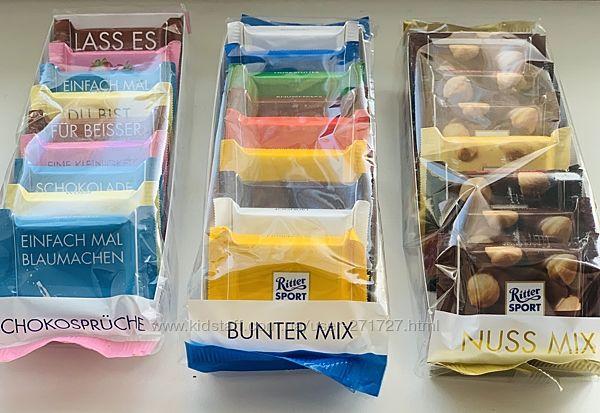 Наборчики шоколада Ритер спорт Ritter Sport mini, 150 грам Германия