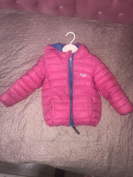 Куртка для девочки на 1,5-2 года двухсторонняя