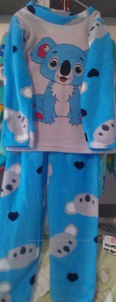 Новая теплая пижама  на мальчика, на девочку  3,4,5, 6 лет.