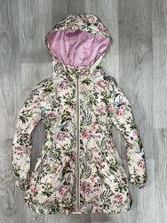 красивая, цветочная курточка, парка TU  Размер 5-6 лет