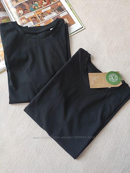 Базові чорна футболка і майка 134/140 C&A