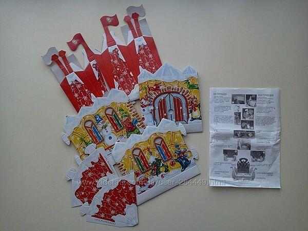 Картонный конструктор/новогодняя крепость своими руками