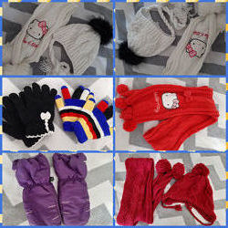 Комплект,  шапка,  шарф, варежки,  термобелье C&A Германия