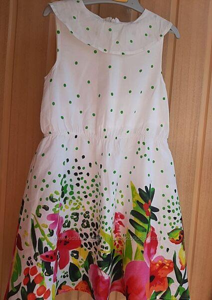 Красивое нарядное платье для девочки на рост 110